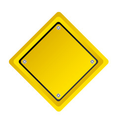 emblem warning notice in blank vector image