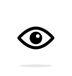 Eye icon on white background vector image