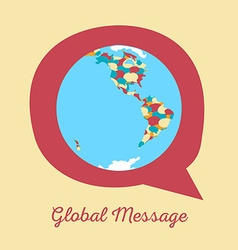 Global message earth globe vector