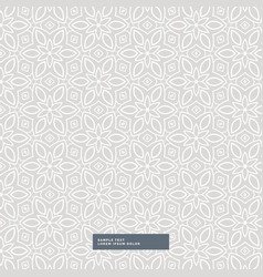 Gray flower pattern background vector