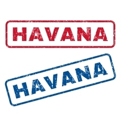 Havana rubber stamps vector