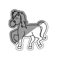 horse farm animal vector image