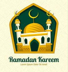 Islamic ramadan eid mosque card banner template vector