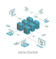 Isometric data center icon vector