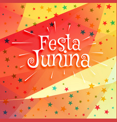 June festival of brazilian festa junina background vector
