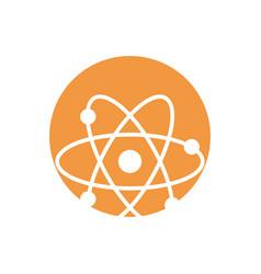 molecule atom school ico vector image