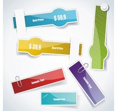 Multicolored stickers vector image vector image