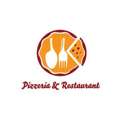pizzeria and restaurant design template vector image vector image