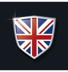 shield of flag icon United kingdom design vector image vector image