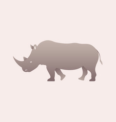 Silhouette of a rhino rhinoceros side view vector