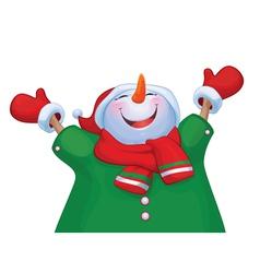 snowman costume vector image