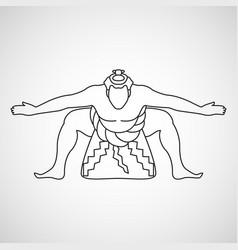 Sumo logo icon vector