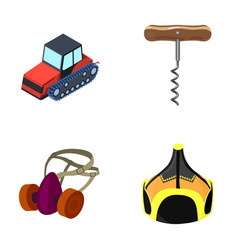 Tractor corkscrew and other web icon in cartoon vector