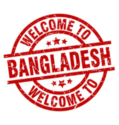 Welcome to bangladesh red stamp vector
