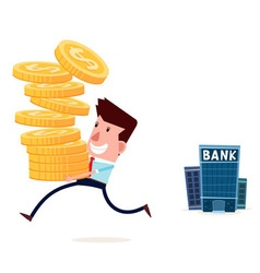 withdraw saving from bank vector image