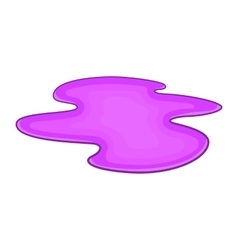Puddle of oil icon cartoon style vector
