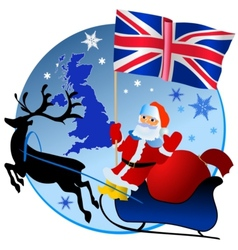 Merry christmas united kingdom vector