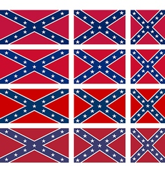 Rebel flag set vector