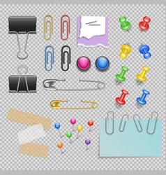 Office accessories set vector