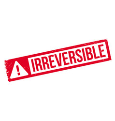 Irreversible rubber stamp vector