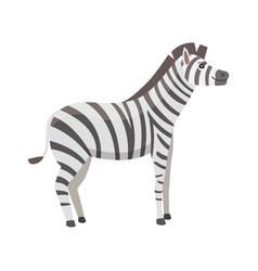 Happy cut cartoon zebra isolated vector