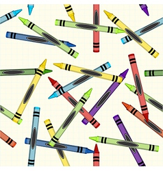 Color crayons pattern background vector