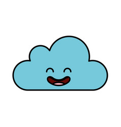 Cloud climate kawaii character vector