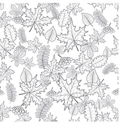 Pattern seamless of autumn leaves vector