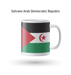 Sahrawi arab democratic republic flag souvenir mug vector