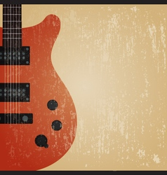 241grunge electric guitar vector image vector image