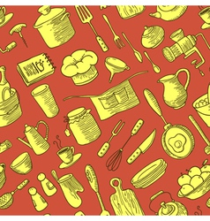 kitchen doodles stuff vector image