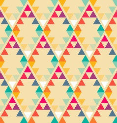 Nordic sunrise rhombus pattern vector