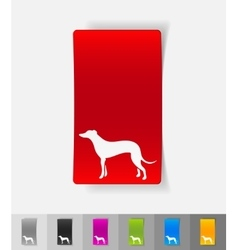 Realistic design element greyhound vector