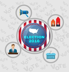 Usa presidential election 2016 banner vector