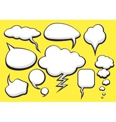 Bubble talk collection sketch drawing vector