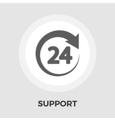 Support 24 hours flat icon vector