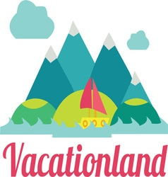 Vacation land vector