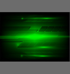 Abstract dark green and light technology design vector