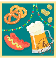 Beer flags vector