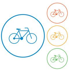 Bicycle - bike icon vector