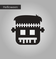 Black and white style icon frankenstein vector