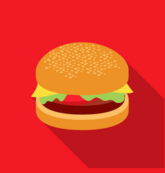 Burger icon in flat style for web vector