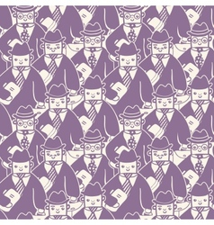 Businessmen in a group seamless pattern background vector image vector image
