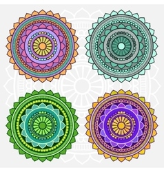 Colored mandalas vector image vector image