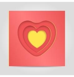 Congratulatory template Happy Valentine vector image vector image