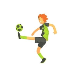 Football Player Kicking The Ball Isolated vector image