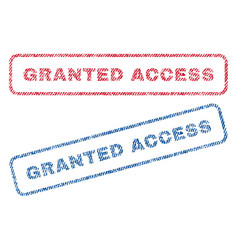 granted access textile stamps vector image vector image