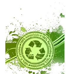 grunge eco background vector image