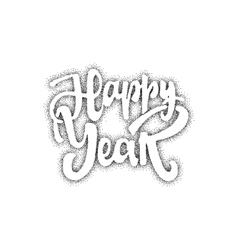 Happy new year hand-lettering text Handmade vector image vector image