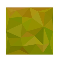 Heart gold green abstract low polygon background vector